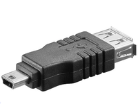 Adapter USB A-B 5pin Mini F-M USB 2.0